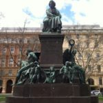 Beethoven statue across the street from the Konzerthaus